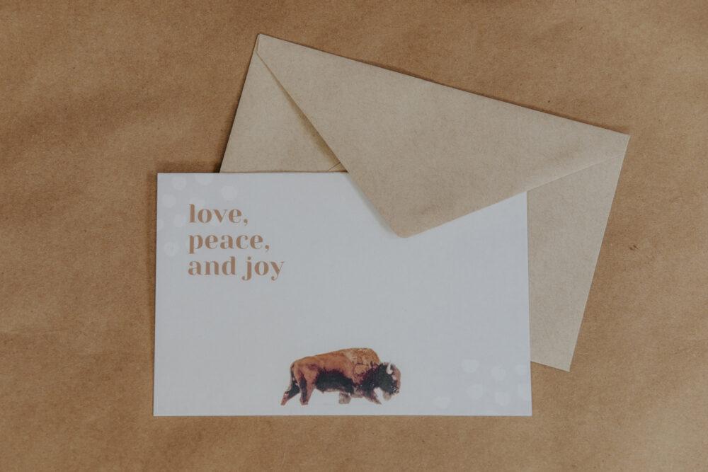 western christmas card